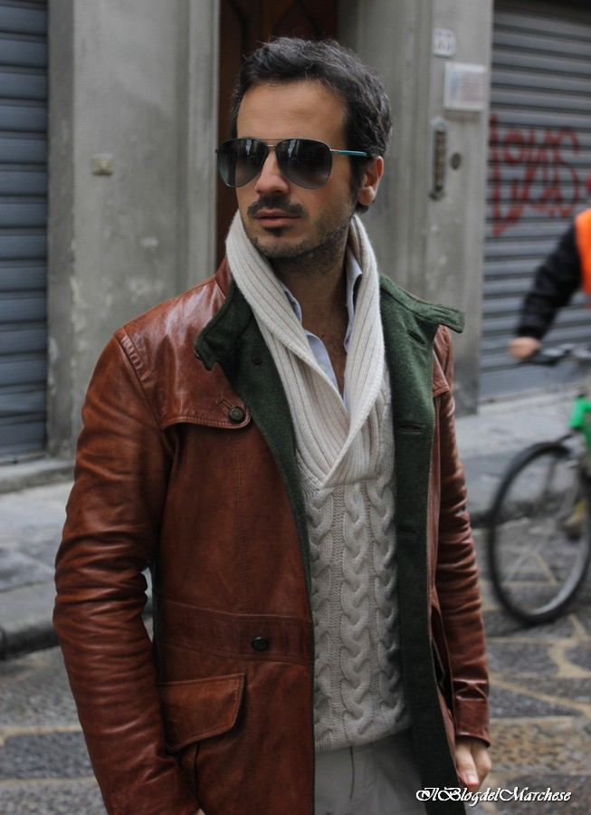 Outfit uomo giacca di pelle