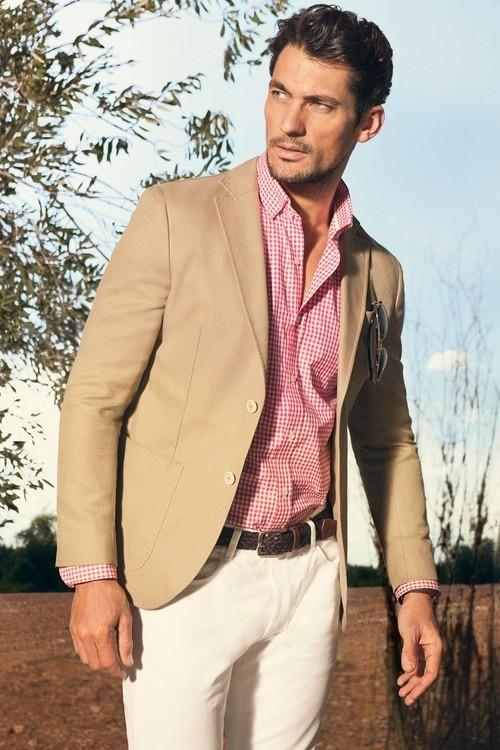 camicia a quadretti per abito chiaro
