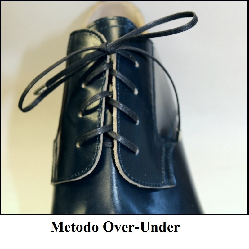 allacciatura scarpe metodo over-under