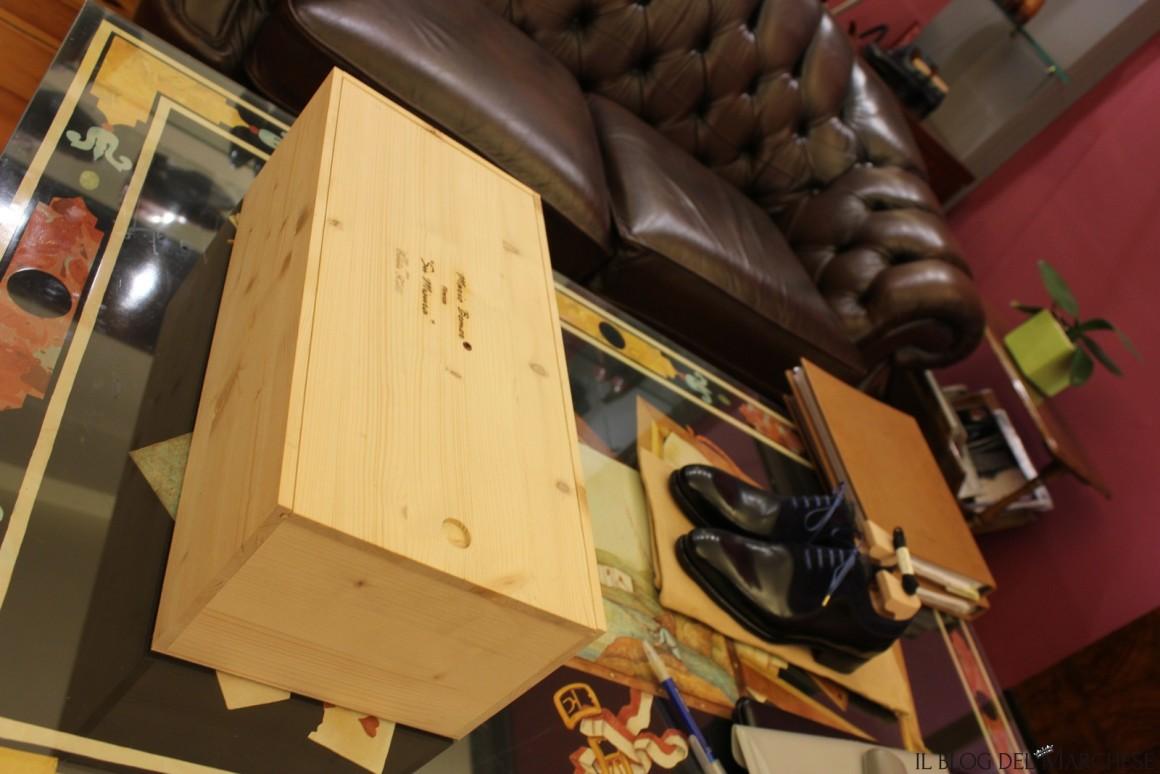 box in legno per scarpe su misura