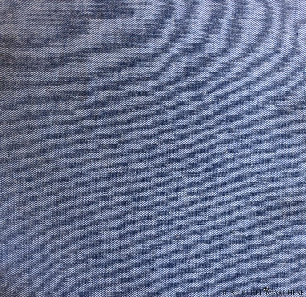 camicia in tessuto cotone color denim