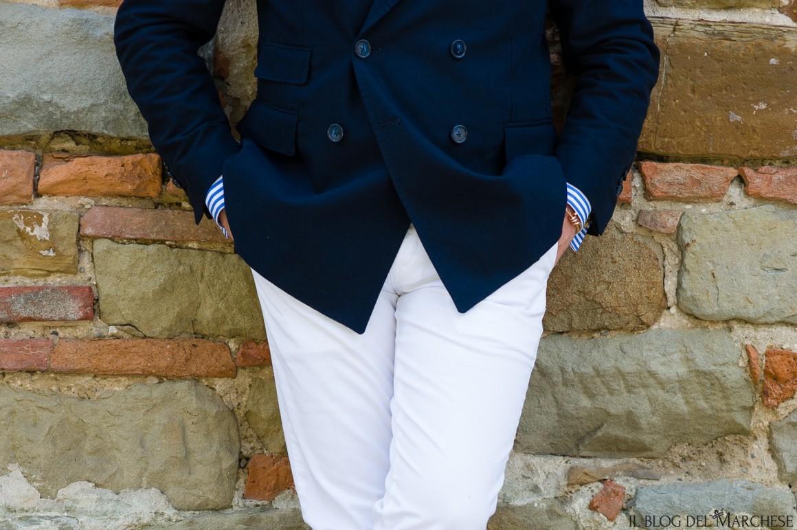 blazer blu maschile