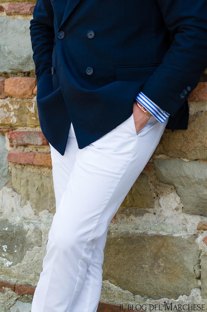 pantaloni bianchi maschili estate 2016