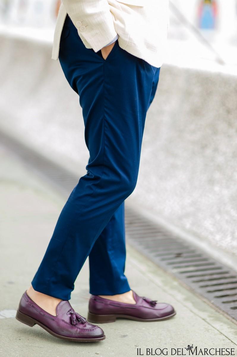 pantaloni blu maschili estate 2016