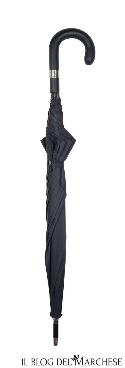 ombrello-manico-pelle-nera