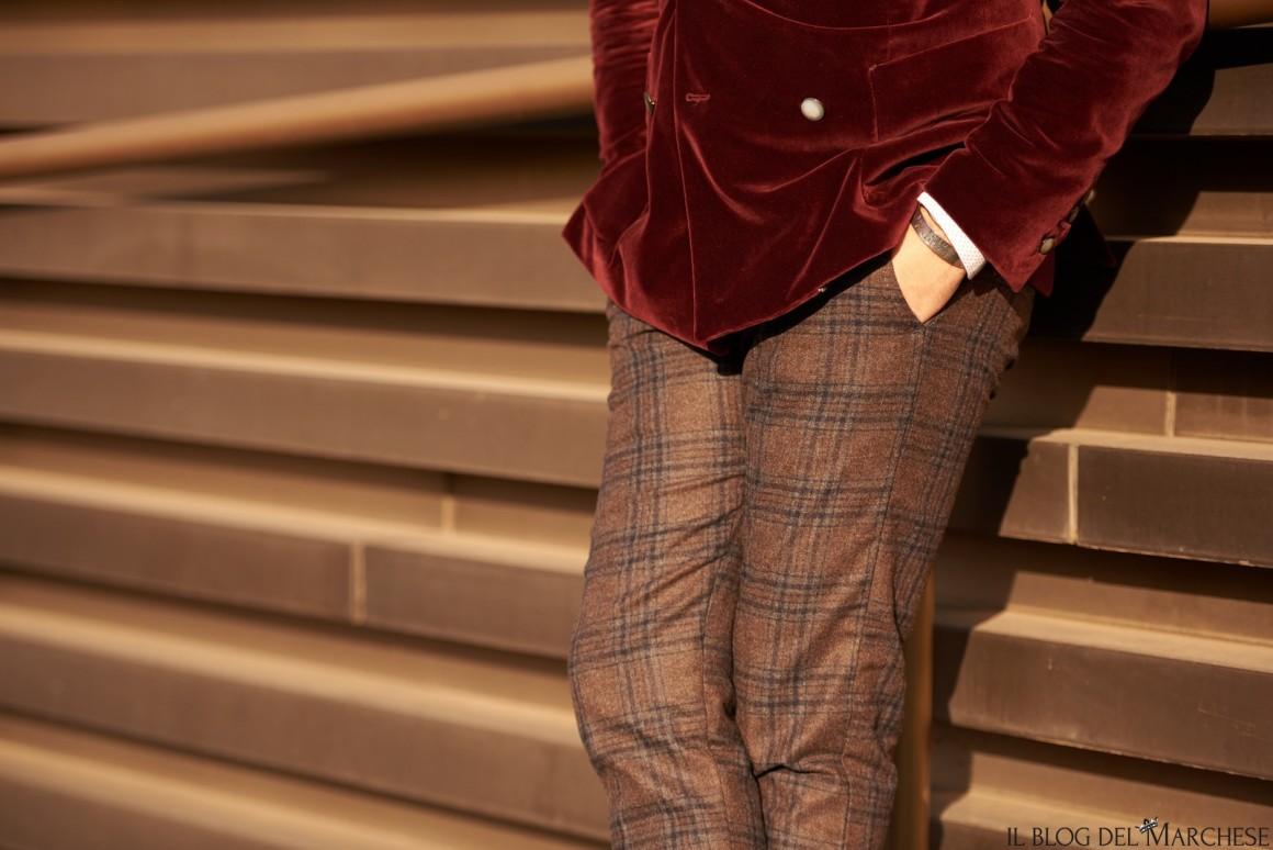 pantaloni scozzesi maschili