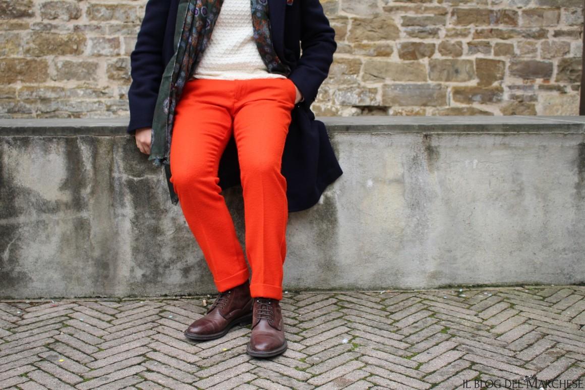 tessuto casentino arancione
