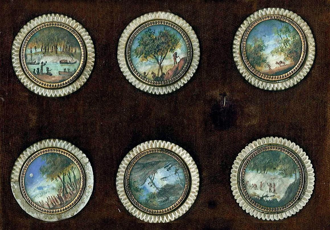 bottoni antichi micromosaico