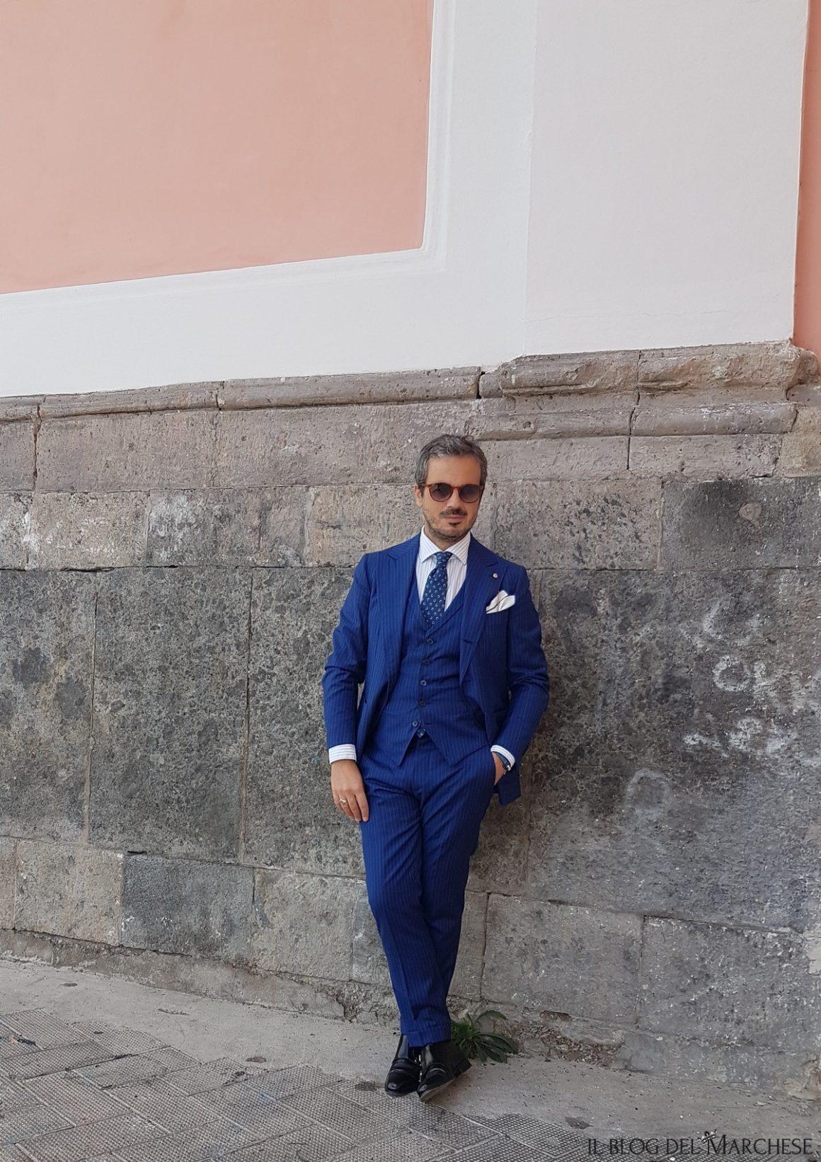 Abito Matrimonio Uomo Napoli : L abito gessato blu su misura di sartoria cavaliere il